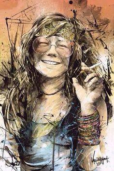 Janis Joplin, by thefreshdoodle on DeviantArt Janis Joplin, Rock Posters, Concert Posters, Art Music, Music Artists, Acid Rock, Blues Music, Rock Legends, Jim Morrison