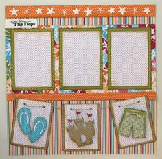 Beach scrapbook Layout.  I'll need this in a couple of weeks.