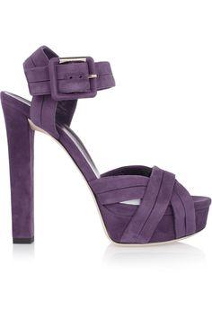 GUCCI Suede Platform Sandals. #gucci #shoes #sandals