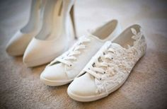 Comfy shoes are a must. | 24 Important Lessons You Learn On Your Wedding Day  WEDDING SWING DANCE SHOES, AWW HELL YESSS