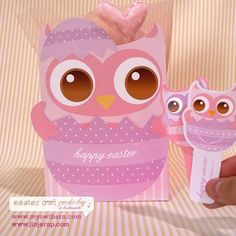 Easter is just around the corner and I came across this lovely project with free printable templates for making your own gift or goodie bags and even bookmarks. All you need is cardstock and a printer to make your own gift bags.  http://www.home-dzine.co.za/crafts/craft-easter-owl.htm