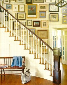 Gallery wall- staircase