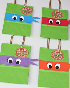 Ninja Turtle party TMNT party bags