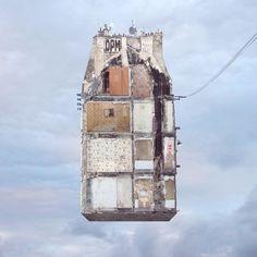 Flying Houses - Trace au mur - 2012