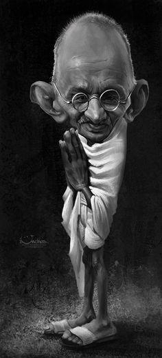 Caricatura Mahatma Gandhi