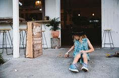 Bandikoot Kids Clothing and Fashion. Paisley Dress. Converse Trainers. Coffee shop. Childrens Fashion Blog. Fallen Broken Street Hat. Vintage Leather and Turquoise. Folk Cafe Byron Bay