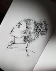 It was child's play to start sketching slowly, but that's it - Kunst Bilder - Art Sketches Pencil Art Drawings, Art Drawings Sketches, Cute Drawings, Sketch Art, Drawings Of Girls Faces, How To Sketch, Hipster Drawings, Draw Faces, Awesome Drawings