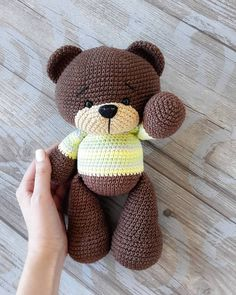 Crochet bear amigurumi – free crochet pattern for this adorable little bear. Crochet bear amigurumi – free crochet pattern for this adorable little bear. How to Crochet a Bear - Crochet Ideas Crochet pattern: Little Dragon – Salvabrani – Mateja Kl Crochet Bear Patterns, Crochet Doll Pattern, Amigurumi Patterns, Amigurumi Doll, Crochet Dolls, Amigurumi Tutorial, Crochet Ideas, Crochet Teddy, Cute Crochet