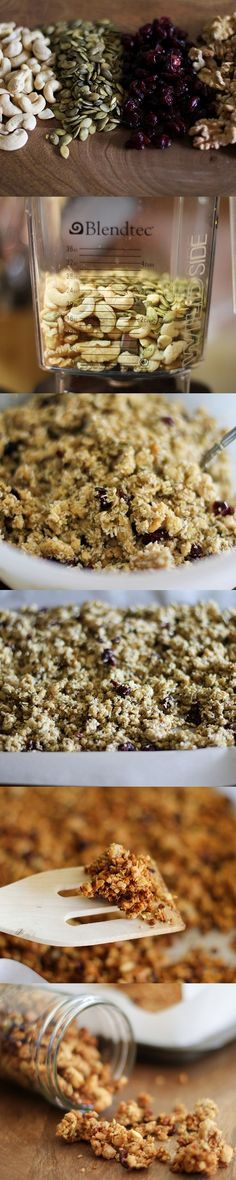Gluten free (and paleo) granola - plus how to make ginormous granola clusters!! #glutenfree #paleo