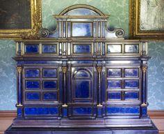 17c lapis lazuli cabinet Belton Hpuse, England