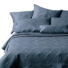 Slate Blue Matelasse Coventry Slate Quilt Set 100