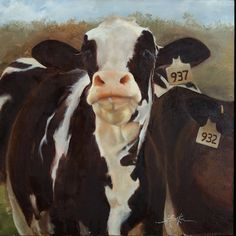 i love this cow painting!