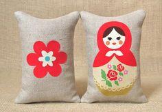 Matryoshka Russian Doll Pillows