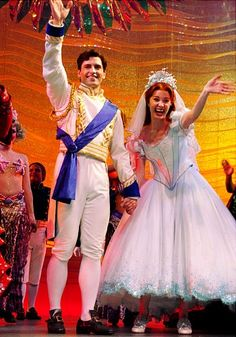 "Sean Palmer (Prince Eric) and Sierra Boggess (Ariel) in DIsney's ""The Little Mermaid,"" 2008"