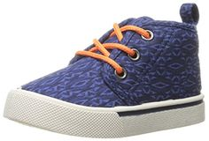 OshKosh B'Gosh Bently-B Casual Canvas Shoe (Toddler/Little Kid): A cool sneaker with patterned canvas and orange laces will complete his fun summer style. Shoe Storage, Canvas Fabric, Cool Patterns, Clothing Items, Boys Shoes, Fashion Shoes, Sneakers, Casual, Kids