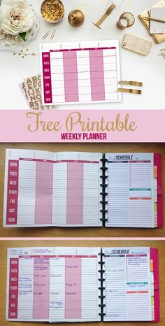 Free Weekly and Daily Planning Printables!