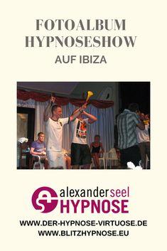 Hypnoseshow Fotos vom mit Hypnotiseur Alexander Seel der Showhypnose im Punta Arabi Ibiza. Ibiza, Photograph Album, Ibiza Town