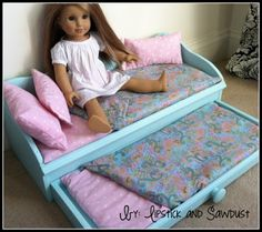 Lipstick and Sawdust: Mattress and Linens for Doll Bed Tutorial