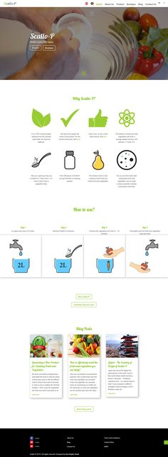 Web Design Desktop - Website for a product that cleans fruits 🍏 and vegetables 🥕 from chemicals. Also, the website has a blog for news healthy life advice. News Web Design, Web Design Quotes, Website Structure, Restaurant Web, Tricky Questions, Website Features, Website Layout, Life Advice, Fruits And Vegetables