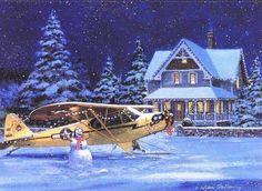 Vintage aviation Christmas Card Merry Christmas Pictures, Merry Christmas Wishes, Funny Christmas Cards, Merry Christmas Everyone, Retro Christmas, Christmas Time, Christmas Ideas, Christmas Crafts, Aviation Humor