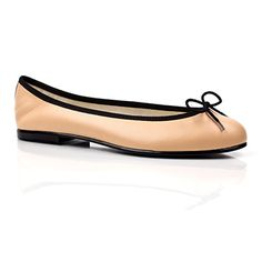 1a4b1557494 PIROUETTE BEIGE LEATHER BALLET PUMPS - FLAT SHOES