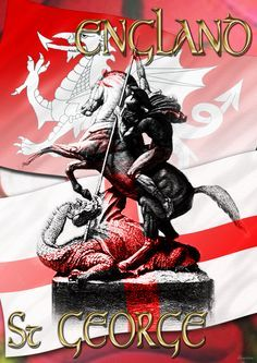 England St George Happy St George's Day, St Georges Day, Fb Status, Washington, Wishes Images, Day Wishes, Saint George, Mosaic Designs, Quote Of The Day