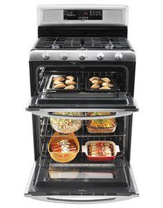 6.0 cu. ft. Capacity Double Oven Gas Range with Speed Heat™ Burner