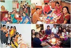 pooja with family on diwali/wiwigo