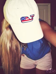 America Vineyard Vines Hat <3