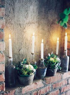 candles in bottles wedding decor |Photography: Aline Lange