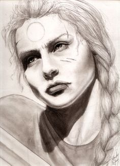 SciFi and Fantasy Art Paksenarrion by Mandy Tsung. I love this drawing.  Fantasi Konst e1b61de8162b6