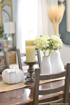 Dining Room Table Fall Decor * Want to know more, click on the image. #creativehomedecor