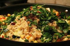 Quinoa with chick peas and mixed vegetables by Sonia! The Healthy Foodie, via Flickr
