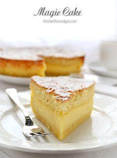 冷蔵庫にある材料でできそうですね。カットする瞬間が楽しみ!このケーキを発明(発見?)した人はスゴイ!