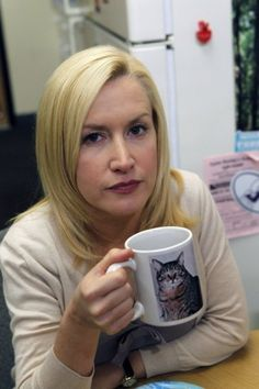 Angela Kinsey(Angela Martin) in The Office She always looks angry
