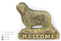 Bearded Collie dog welcome hanging decoration by ArtDogshopcenter