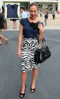 Maybe not the zebra, but I love printed dresses with a solid colored shirt.