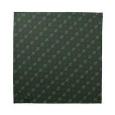 Green Print: Cloth Napkin
