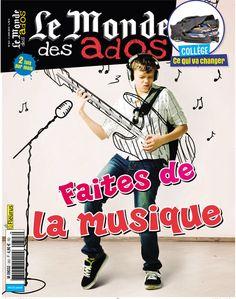 """Le Monde des Ados n°343 - 3 juin 2015 : """" Faites de la musique """" #presse #ados #magazine #musique"""
