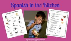 Cooking in Spanish is hands-on language learning fun! Tips for cooking with kids in Spanish and handy printables of language you need as you cook.