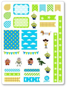 Toys Decorating Kit / Weekly Spread Planner Stickers by KGPlanner