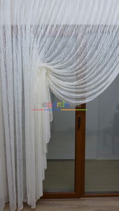 Tulle Curtain And Double-breasted Curtain - # # Double-breasted .- Tül Perde Ve Kruvaze Perde – Tulle Curtain And Double-breasted Curtain – breasted - Curtains, Curtain Decor, Salon Decor, Door Dividers, Home Decor, Window Coverings, House Interior, Room Decor, Tulle Curtains