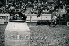 Bullfighter. Do you have the balls to face the bull? www.PhilipCarnevalePhotography.com #Rodeo #Bullfighter #Bull #Photography #BlackandWhite #PhilipCarnevale #RodeoClown #BarrelMan