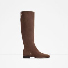 Image 1 of FLAT LEATHER BOOTS from Zara