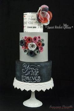 You&MeForever San Valentine Cake Wafer Paper Sweet Rocket Queen