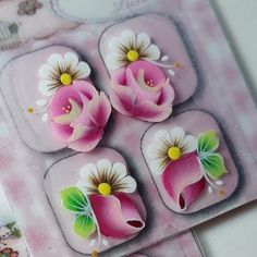 Nail Designs, Nail Art, Nails, Instagram, White Nail Beds, Finger Nail Painting, Adhesive, Painted Flowers, Nail Manicure
