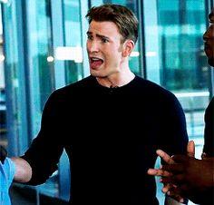 Chris Evans on ET's behind the scenes of Captain America: Civil War
