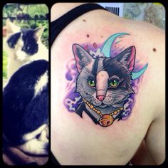 Cat neotraditional tattoo  By Juan David Castro R