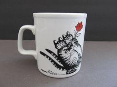 Staffordshire Potteries B Klibban Cat Mug 1979