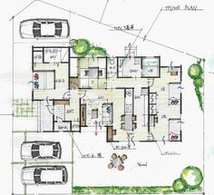 「平屋間取り 4ldk」の画像検索結果 Craftsman Floor Plans, House Floor Plans, Plan Sketch, One Story Homes, Japanese Architecture, Japanese House, Story House, House Layouts, House Rooms